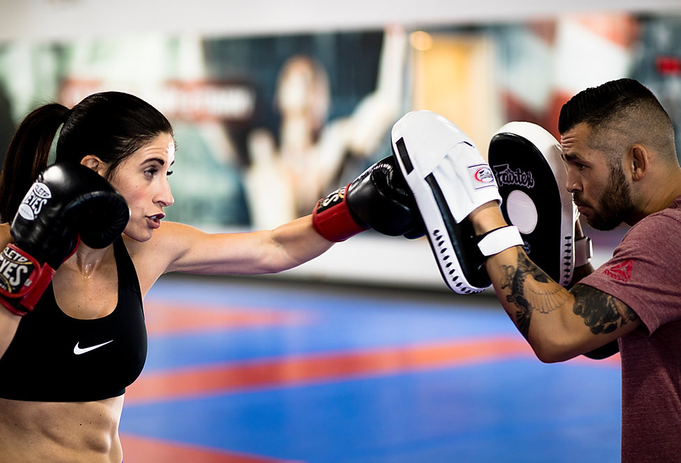 Laura Bianchi trains at her MMA gym in Scottsdale, Arizona