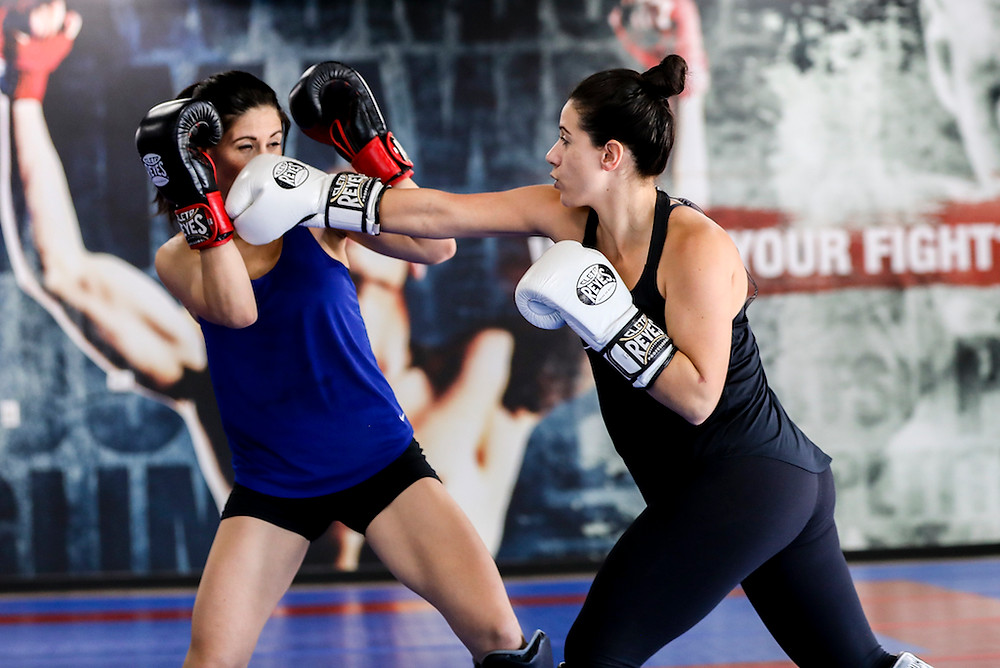 Catherine and Laura Bianchi train at an MMA gym in Scottsdale, Arizona