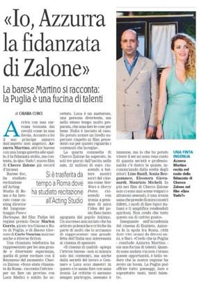 """""""Io, Azzurra la fidanzata di Zalone"""""""