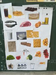 Unsere selbstgebaute Ernährungs-pyramide
