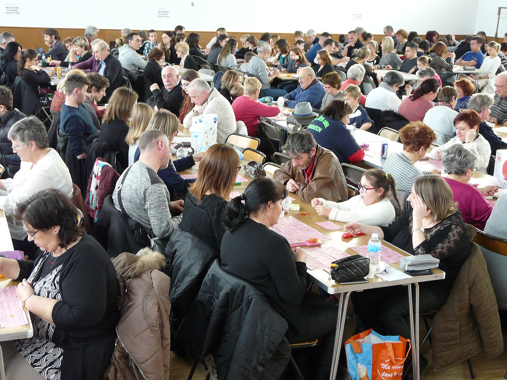 Un public nombreux lors du Loto de l'Amicale Laïque Aubière