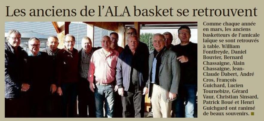 ALA Basket : les anciens se retrouvent