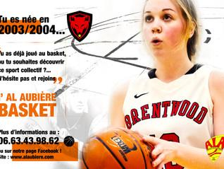 La section Basket recrute des filles nées en 2003/2004