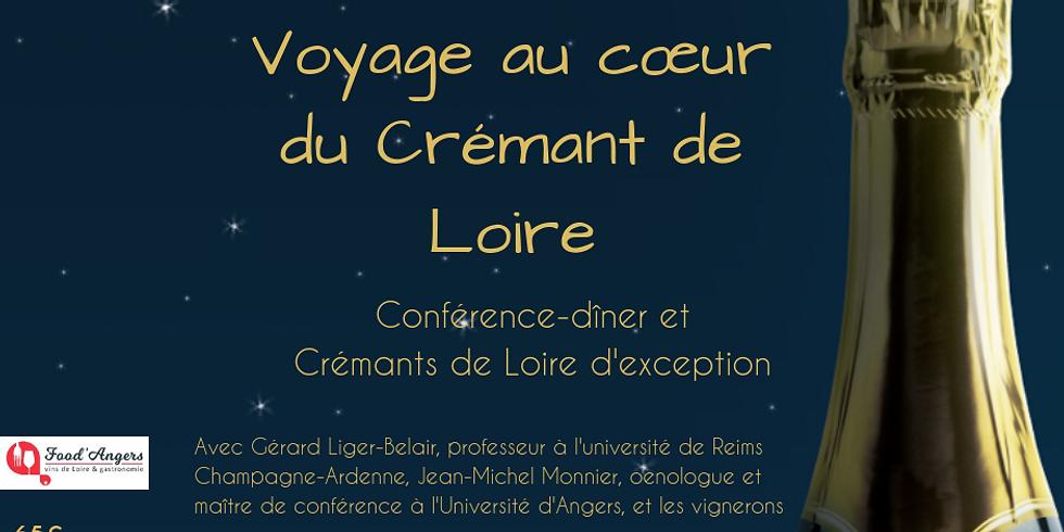"""Conférence-dîner """"voyages au cœur du Crémant de Loire"""""""