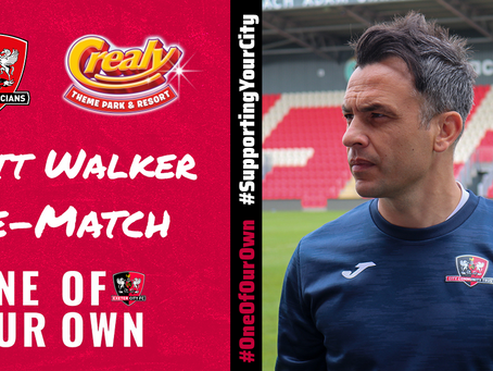 Scott Walker Pre-Match   One Of Our Own Cup