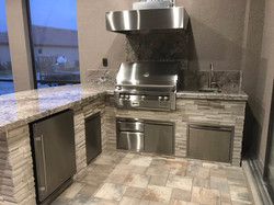 stone outdoor kitchen