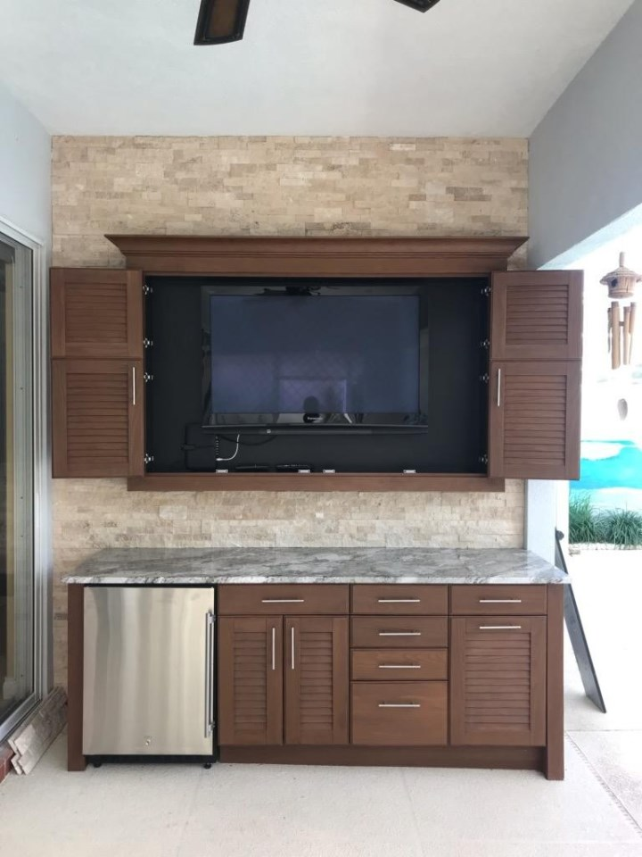 brown naturekast cabinets
