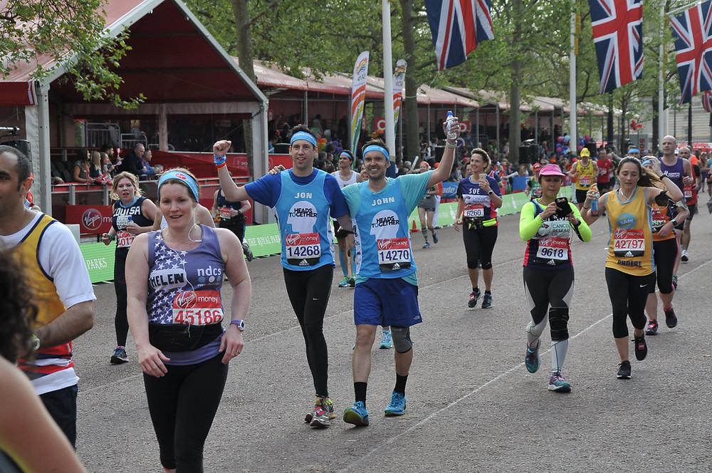 Jon and John running the London Marathon 2017