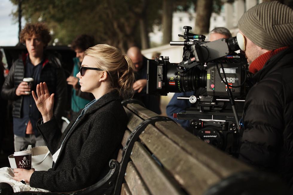 Documentary stills photography of Natalie Dormer in London