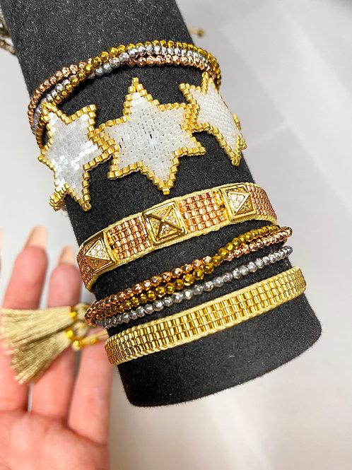 Golden Star Bracelet Set