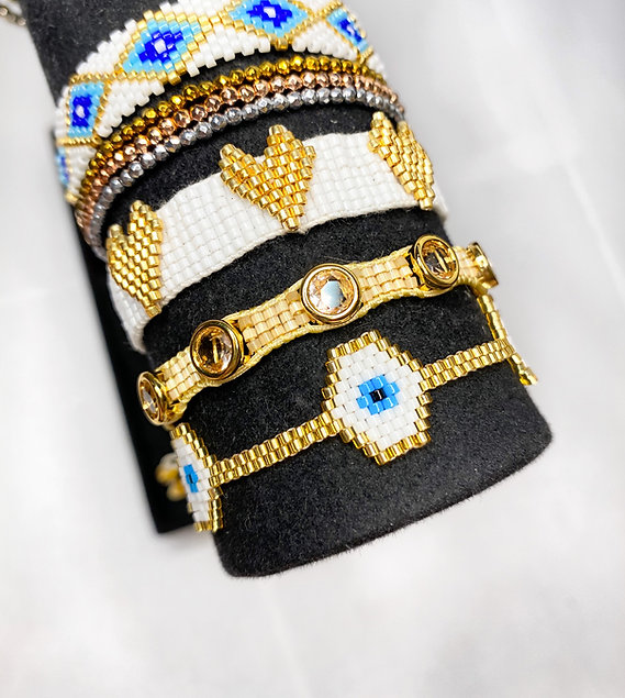 Evil Eye Bracelet Set