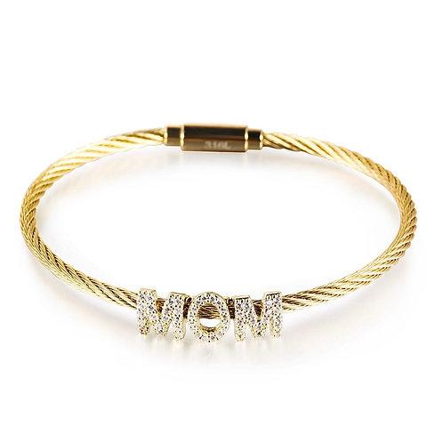 """""""MOM"""" stainless steel Bracelet"""