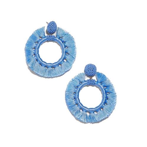 Circular Tassel Earrings