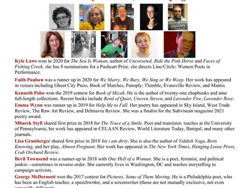 Moonstone Chapbook Winners Virtual Reading October 17
