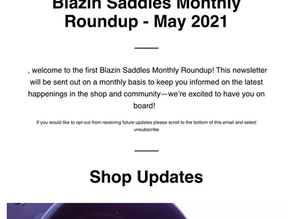 Introducing The Blazin Saddles Monthly Roundup!