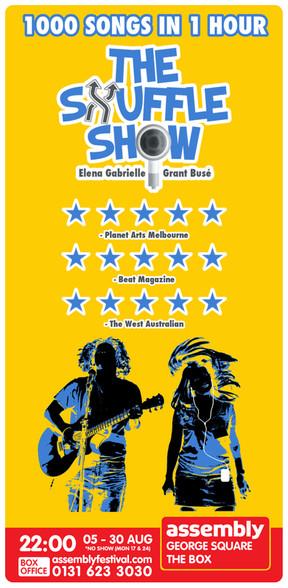 The Shuffle Show Flyer Side 1 - Edinburg