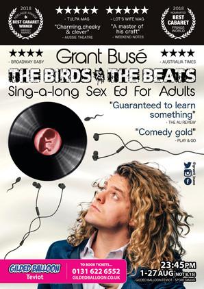 A3 Poster The Birds An The Beats Edinbur