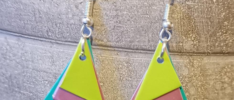 pastel love recycled earrings