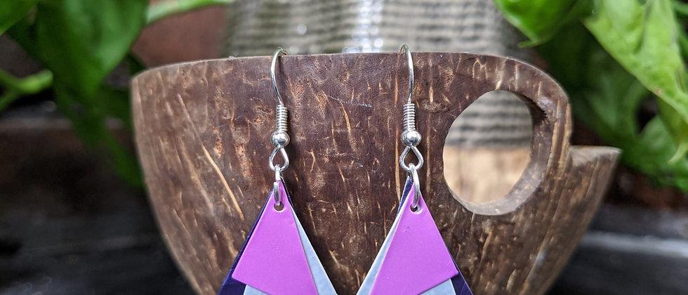 purple haze recycled earrings