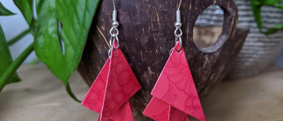 hot flush recycled earrings