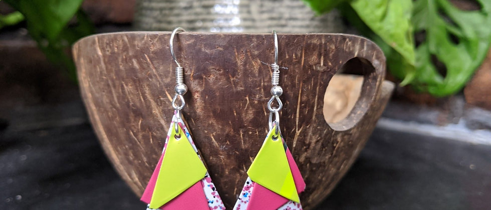 confetti recycled earrings