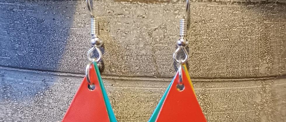 juicy fruits recycled earrings