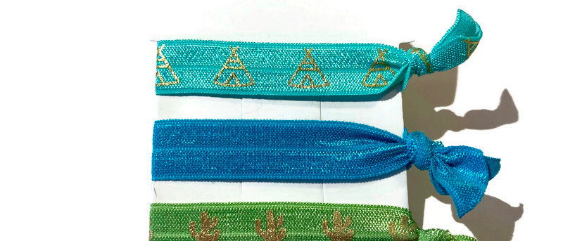 turquoise teepee / blue / green cactus hair / wrist bands