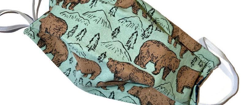 green bears / tiny teal - x-large
