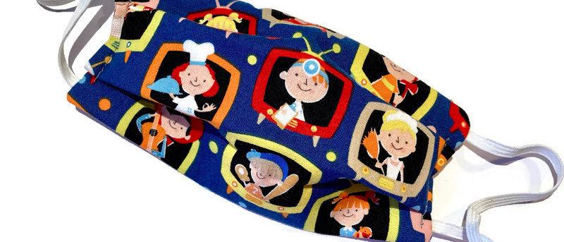 when I grow up / blue orange tartan - medium