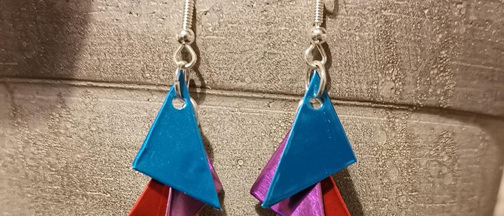 carnival recycled earrings