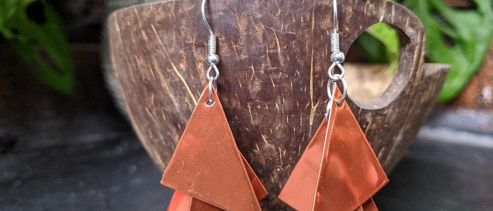 proper copper recycled earrings
