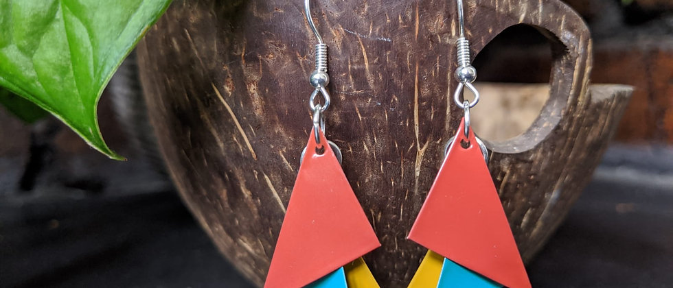 good times recycled earrings