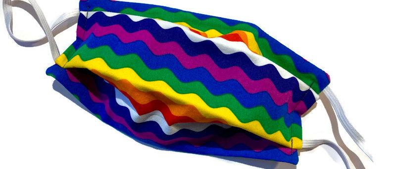 rainbow ricrac / bananas - large