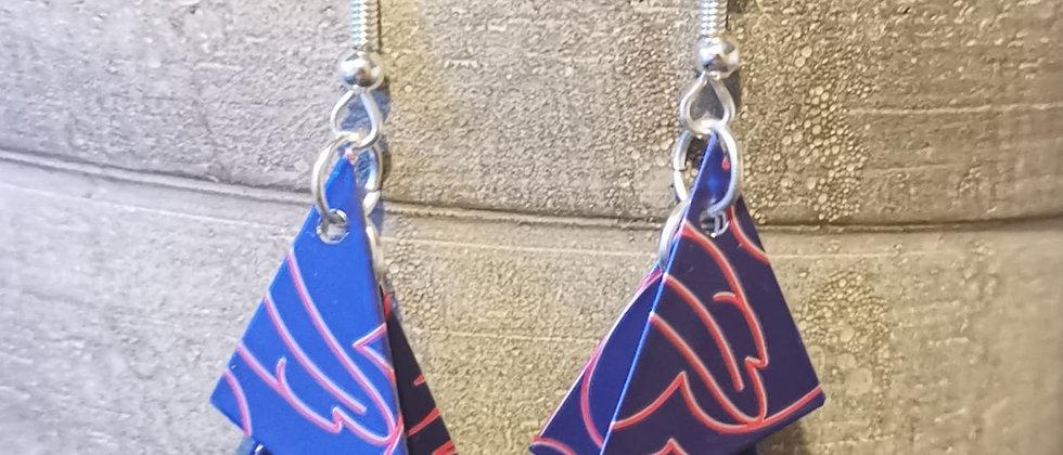 pink pop recycled earrings