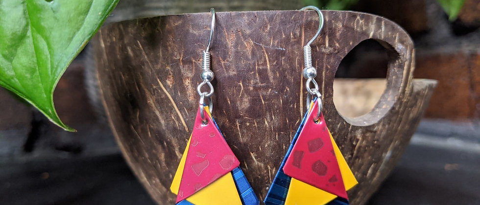 hot to trot recycled earrings