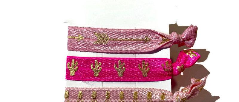 pink arrow, cactus, pineapple hair / wrist bands