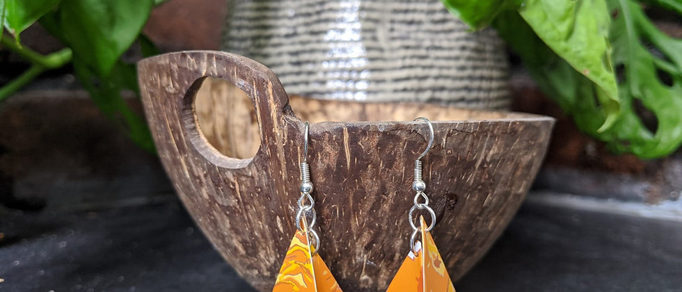 easy peeler recycled earrings