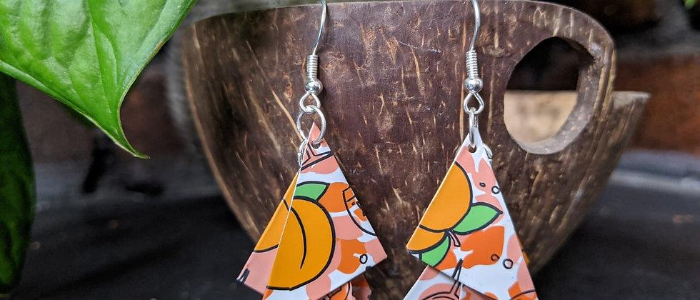 citrus burst recycled earrings