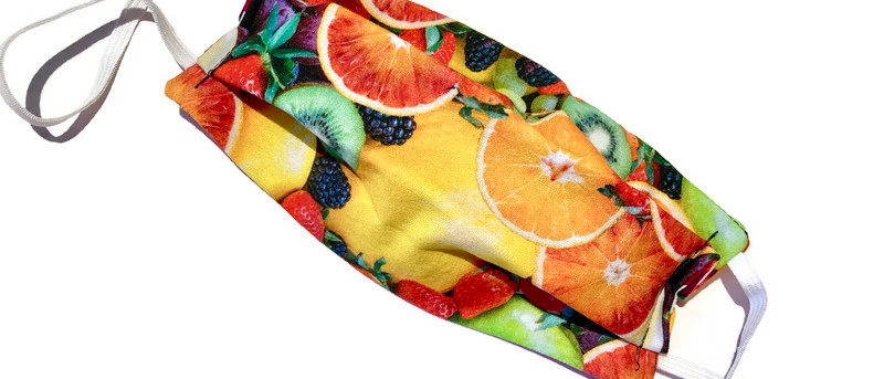 fruit / rainbow ricrac - medium