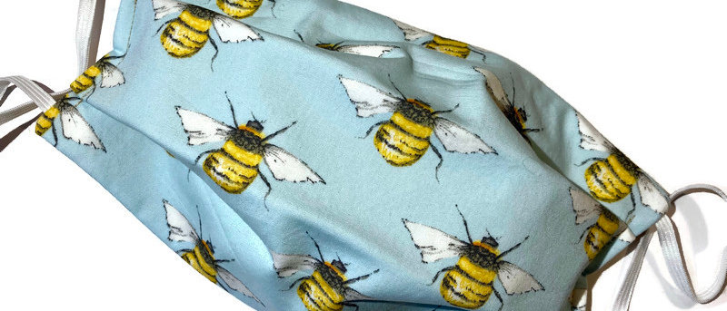 bees / yellow gold - x-large