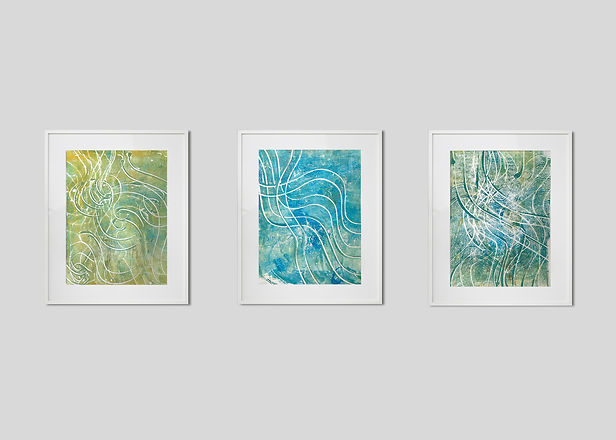 Natural Formations Triptych 1 - By Aditi