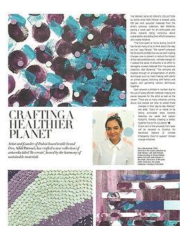 Aditi Patwari's (Dea) Re-create Collection Featured in Harper Bazaar Art