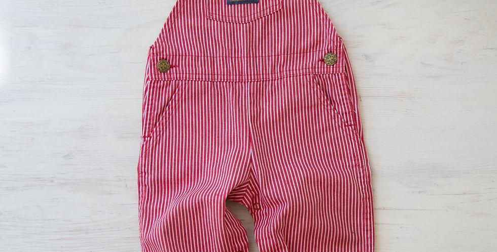 red striped Osh Kosh overalls | 18 mo