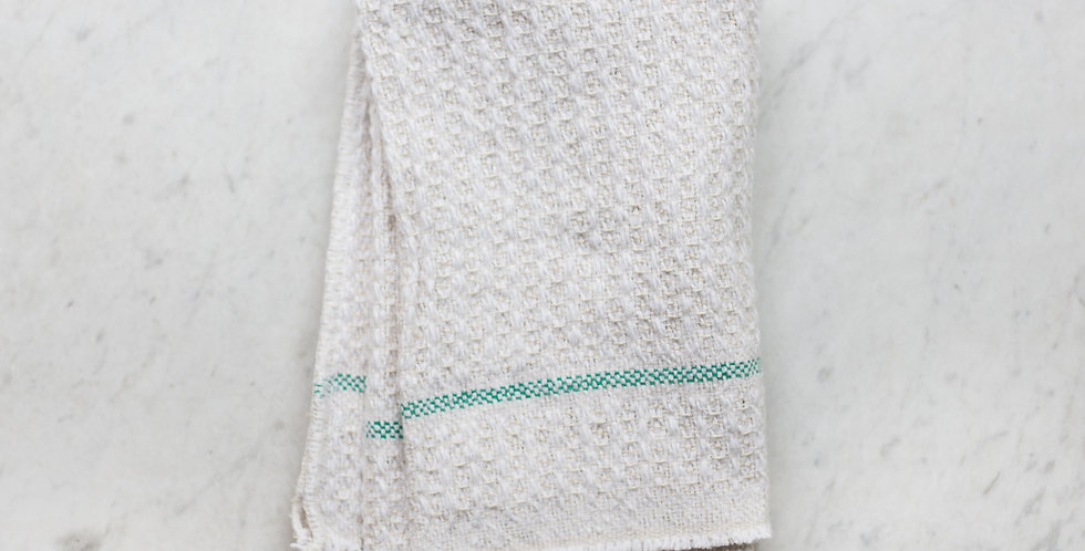Swedish recycled cotton weave towel