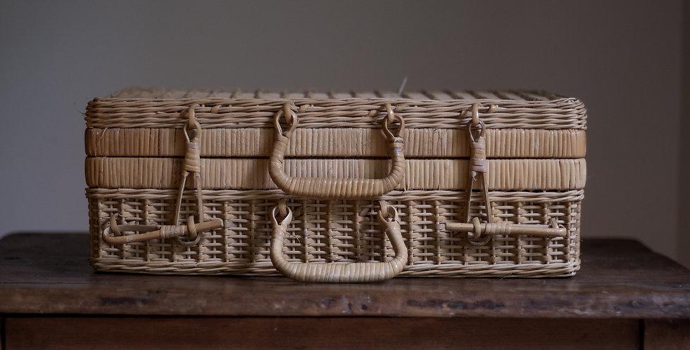vintage suitcase basket