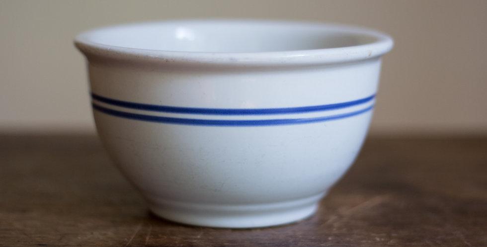 vintage blue striped bowl