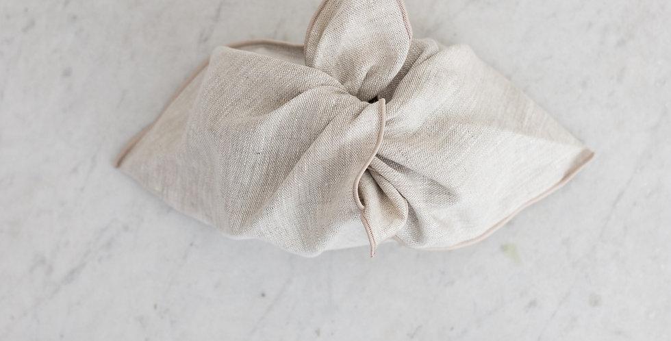 100% linen reusable pouch