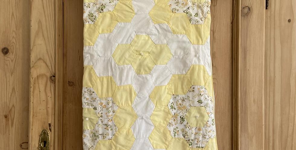 antique hand stitched crib quilt