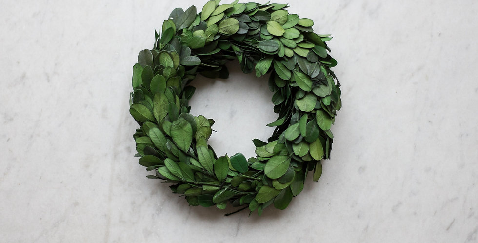 dried boxwood wreath | small