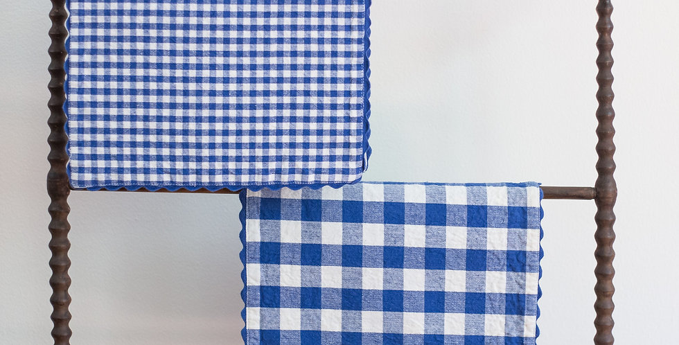 vintage checked placemat set